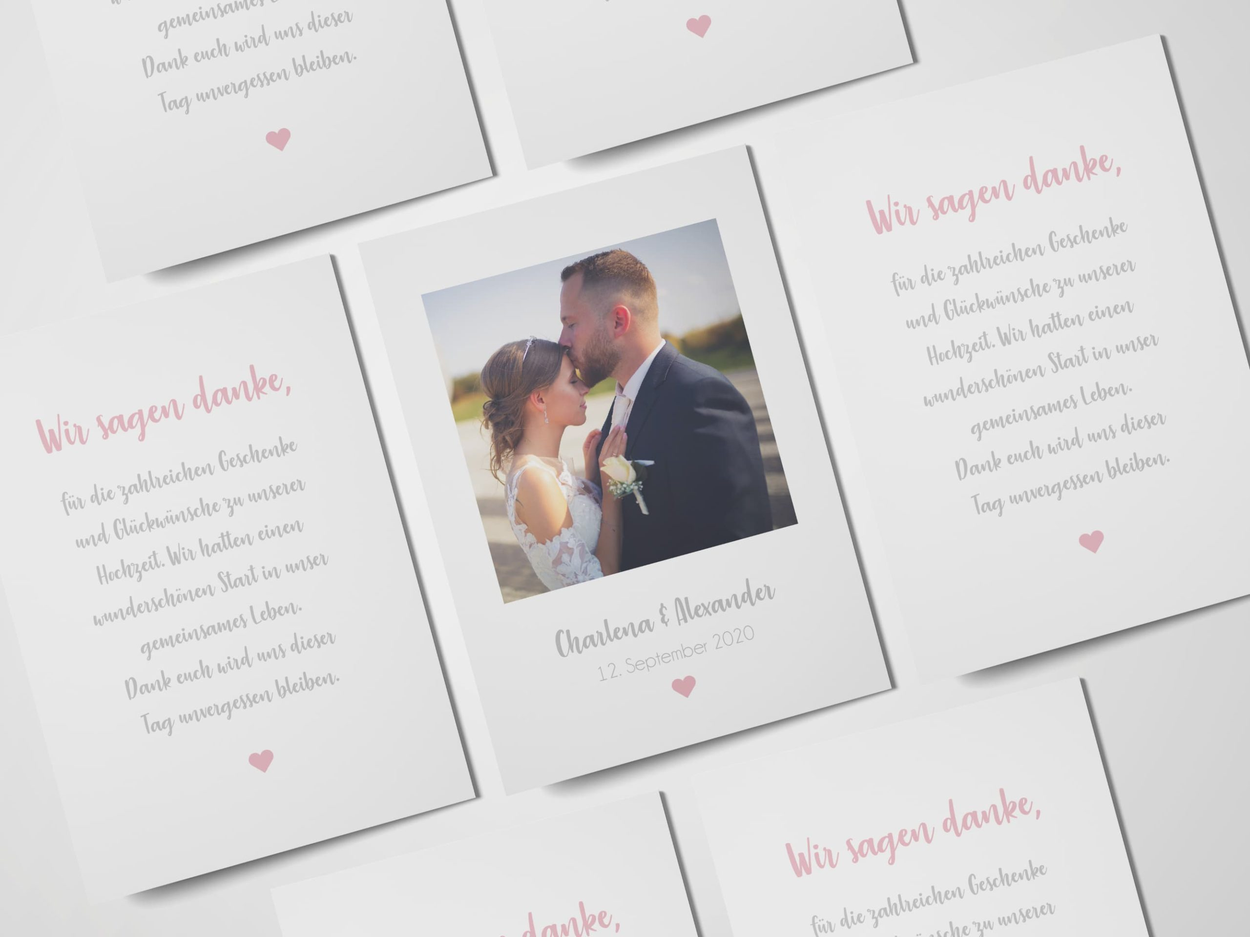 Hochzeit Dankeskarte - Hellomaya